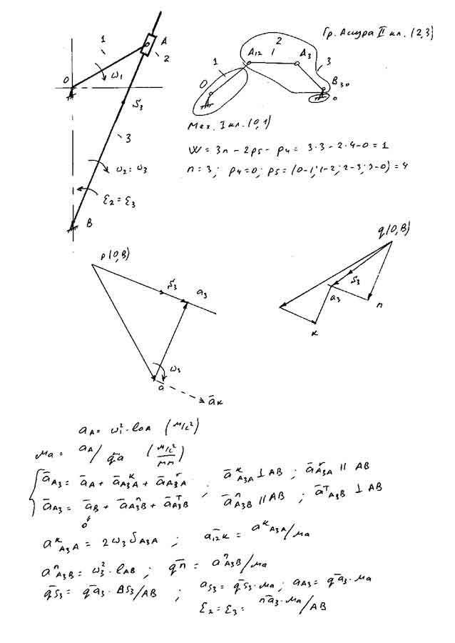 Задачей кинематики механизмов является изучение движения звеньев вне зависимости от сил, действующих на эти звенья.